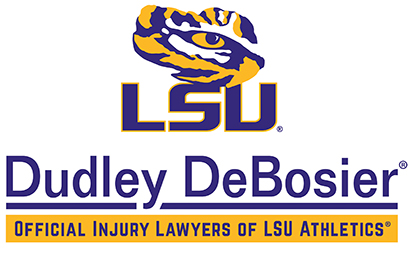 Dudley Debosier. Official Injury Lawyers of LSU Athletics®