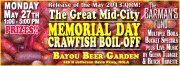 The Great Mid City Memorial Day Crawfish Boil Off for the Bar Man's Fund, May 27th