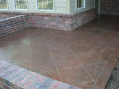 Stained and scored patio in Baton Rouge, LA