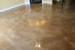Stained concrete overlay